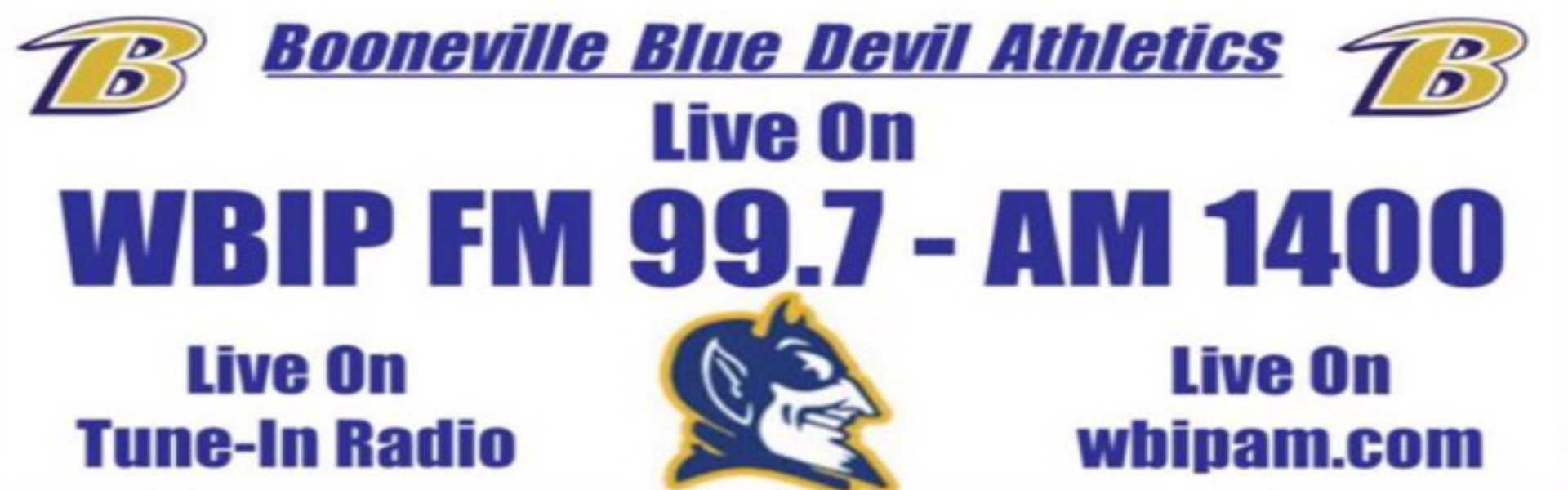 Tune in to WBIP FM 99.7 - AM 1400 for Booneville Athletics live